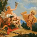 """Apollo Pursuing Daphne by Giambattista Tiepolo"" by ArtLoversOnline"