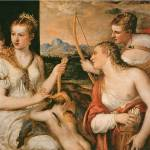 """Venus Blindfolding Cupid by Titian"" by ArtLoversOnline"