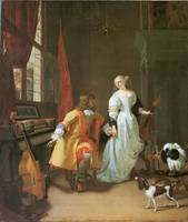 An Elegant Couple with Musical Instruments