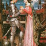"""Tristram and Isolde by John William Waterhouse"" by ArtLoversOnline"