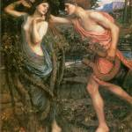 """Apollo and Daphne by John William Waterhouse"" by ArtLoversOnline"