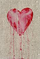 bleeding heart on canvas