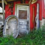 """Red milkhouse"" by traversecity"