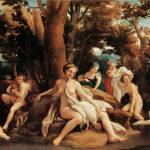 """Leda and Swan by Correggio"" by ArtLoversOnline"
