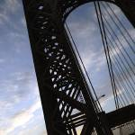 """GW Bridge (Silhouetted)"" by abecrod"