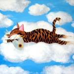 """Cat art by catmaSutra - Cloud 9"" by catmasutra"