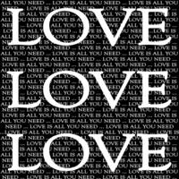 LOVE IS ALL blk