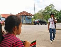 Teenager with Swastika (2), Sandakan, Borneo 2010
