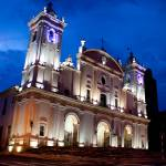"""Asuncion Church Night Scene"" by brendanvanson"