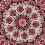 """Red Rosette Motif No. 40"" by HeidiVaught"