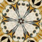 """No. 18 - Blue Yellow Rosette Motif"" by HeidiVaught"
