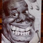"""Louis Armstrong caricature"" by lufreesz"
