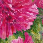 """Bright Pink Zinnias"" by MannellGallery"