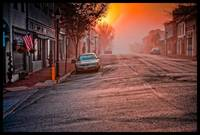 Old Town Warrenton VA Foggy Sunrise