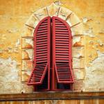 """Red Window Shutters"" by raetucker"