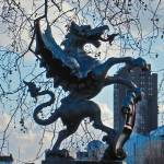 """Griffon Guards the River Thames. London, Spring 20"" by BlackSun"
