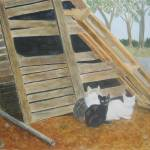 """Barn Cats"" by lizziefield"