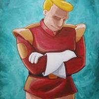 """Contemplative Zapp Brannigan"" by mousersix"