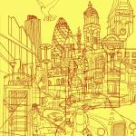"""London! Yellow/Red"" by davidbushell"