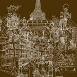 """Paris! Vers.1"" by davidbushell"