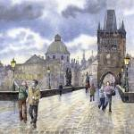 """Prague Charles Bridge"" by shevchukart"