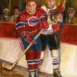 """HOCKEY STARS AT THE FORUM"" by carolespandau"