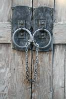 Chained Wooden Door