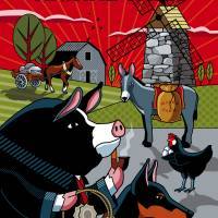 Animal Farm - Napoleon's Utopia Art Prints & Posters by Ron Magnes