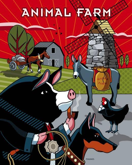 animal farm a dystopian society essay