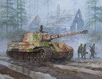 German King Tiger tank in the Battle of the Bulge