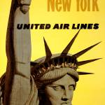 """Travel New York, United Air Lines"" by dalidayna"