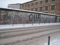Berlin Wall, Communist Side. Winter 2009