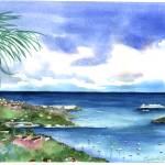 """St. Thomas, Harbor, USVI"" by kyaudeart"