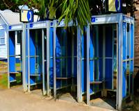 Blue Phone Booths