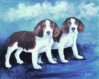 TWO TYEAUXS TWO BEAGLES