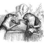 """Civet Cat Offers Snuff to Elderly Beaver"" by ArtLoversOnline"