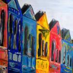 """Rainbow Row"" by brittmillerart"