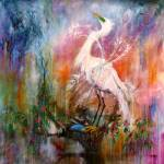 """Great White Egret Painting by Ginette Callaway"" by GinetteCallaway"
