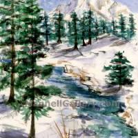 Mt.Stream Winter Art Prints & Posters by Joanne Mannell