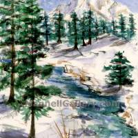 Mt.Stream Winter Art Prints & Posters by Joanne Mannell