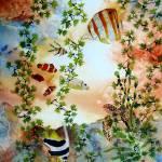 """Aquarium with Salt Water Fish and Sea Turtle"" by vickeysart"
