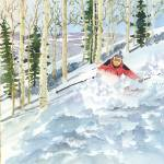 """Downhill Skiing in Steamboat Springs Colorado"" by vickeysart"