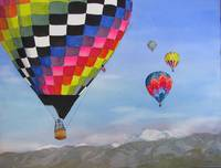 Hot Air Balloon Race in the Colorado Rockies