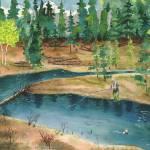 """Fishing Near the Rivers Bend Rocky Mtn. Nat"