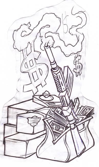 "Drawing ""Gun"" Artwork For Sale on Fine Art Prints"