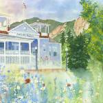 """Historic Boulder Chautauqua Dining Hall in the Fla"" by vickeysart"