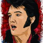 """Elvis Presley Superstar"" by tBaneArt"