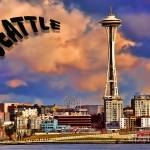 """Seattle Post Card old school"" by robgerman"