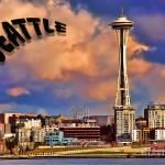 """Seattle Post Card old school"" by robgerman"