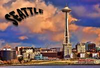 Seattle Post Card old school